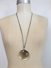 circle necklace long