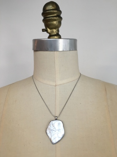 silver organic necklace